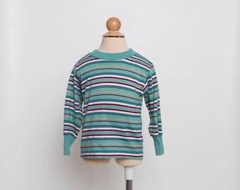 vintage 80s striped shirt toddler boy retro top