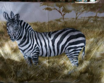 Zebra Print  Polar Fleece Throw Animal Print Fleece Throw Decorator  Polar Fleece Throw