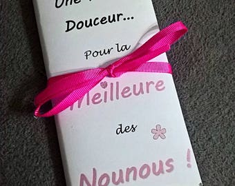 Great gift for nanny chocolate message