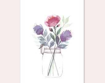 """ARTPRINT A4 """"Flower Jar"""""""