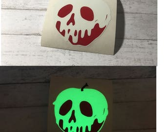 Glow in the dark Poison Apple | Snow White | just one bite | Decal