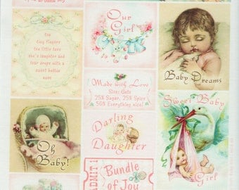 Baby Vintage Style Cotton Scraps Scrapbooking Scrapbooks Embellishments Cardmaking Crafts Crafty Secrets