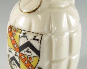 CARLTON Pottery / China - Burnham on Sea Mills Bomb / Hand Grenade