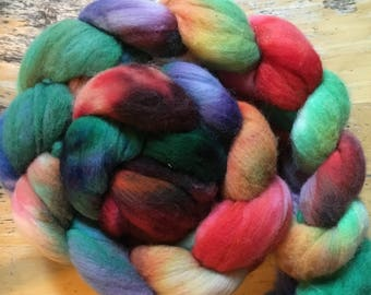 seaglass colorway, Hand-dyed Merino wool Roving