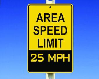 25 MPH Speed Limit Aluminum Sign