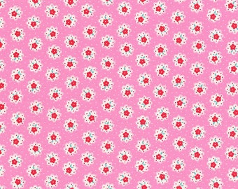 END OF BOLT - 5 Yards - Floral Collection - Flower Sugar by Lecien - Made in Japan - 100 % cotton - Quilting - Lecien Fabrics