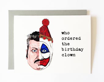 john wayne gacy birthday card (COLOR)