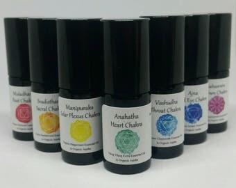 Chakra Balancing Healing Essential Oil Roller Set