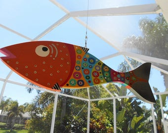 Far Out Fish Works . . . . Hanging Wind Fish II .....Medium......SUMMER SALE