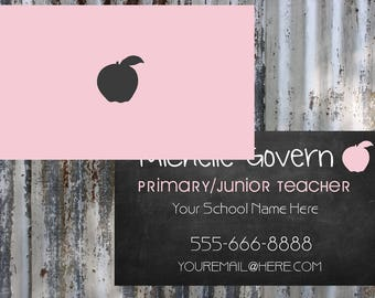 Teacher/Substitute Teacher Business Card       Printable   Download   Personalized