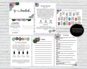 Essential Oil New Member Kits, Welcome Kits Printable, Essential Oils, New Member Oil Resources, YL Welcome Kit, Succulent, YL Printable Kit