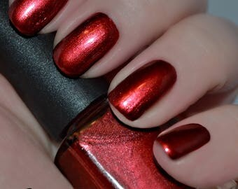 Lestat's Love - Dark Red Shimmer Nail Polish
