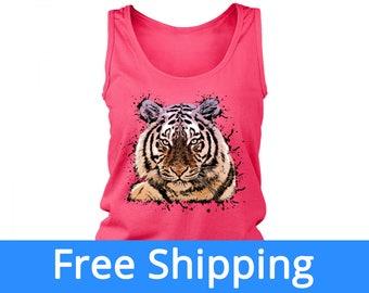 Tiger Tank | Tigers Shirt | Tiger Birthday | Tiger Tshirt | Detroit Tigers Shirt | Tiger Tank Top | Big Cat Shirt | FREE Shipping to US
