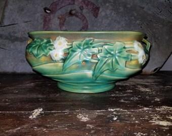 Estate early 1930s Signed Roseville Luffa Flower Pot.