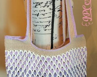 Crochet Moroccan Market Tote ~ Ready to ship