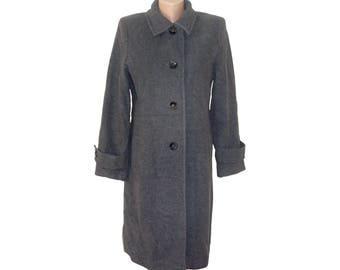 Vintage Collection women gray coat Wool and Cashmere