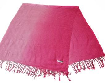 Vintage scarf pink Pashmina 70% cashmere 30 seida