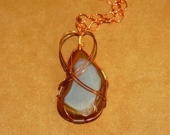 006 Copper loop bell agate