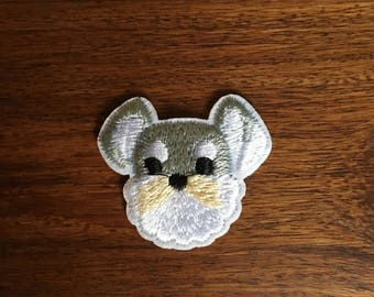 Schnauzer - Iron on Appliqué Patch