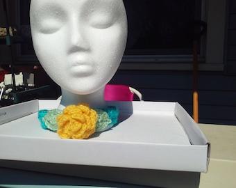 Crocheted Rose Choker