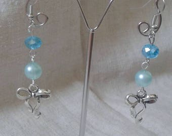 "Earrings ""Silver Bow charm"""