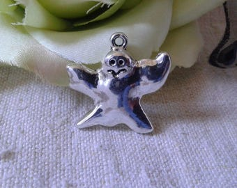 """set of 5 charms """"ghosts"""" in silver"""