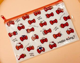 Hello Kitty Bag - Kawaii Makeup Bag - Zipper Pouch - Makeup Case - Sanrio Bag - Japanese Cartoon - Pencil Pen Case - Cute School Supply