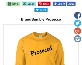 BrandBumble Prosecco sweatshirt
