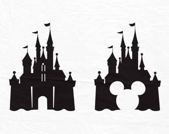 Disney Castle svg, Disney svg, Mickey svg, Mickey mouse svg, Dxf, Cricut, Silhouette cutting file
