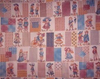 charming vintage kids fabric
