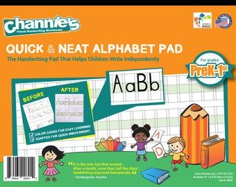 PreK-1st. Simplify handwriting teaching and Learning. Channie's Visual Alphabet Pad