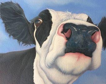 "friesian cow painting ""Sweet Pea"""