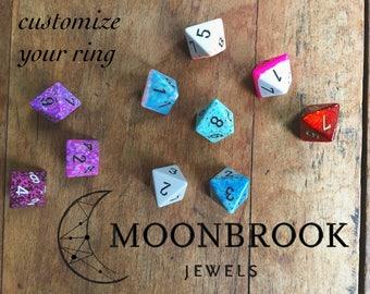 D4 & D8 Fun Color Dice Rings