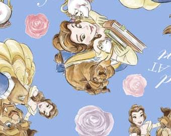 Beauty And The Beast Fleece Tied Blanket