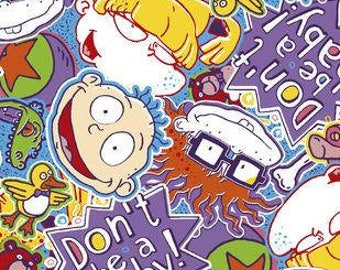 Rugrats Dont Be A Baby Printed Fleece Tied Blanket
