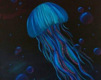 "Original Acrylic Painting - ""A Jellyfish Glow"""