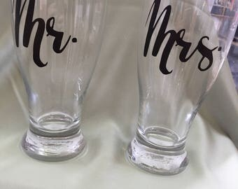 Pilsner Glasses w/personalization