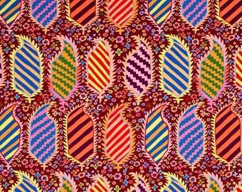 KAFFE FASSET HERALDIC PATCHWORK Brown fabric