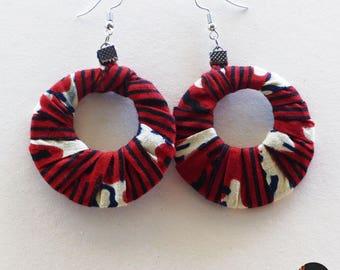 Earrings, rings made of wax