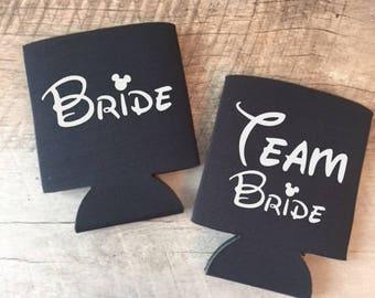 Disney Team Bride Can Coolers - Bachelorette Party - Disney Bachelorette Party - Disney Team Bride Can Cooler - Disney Bride - Epcot