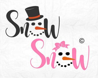 Snowman face svg, Snowman svg, Snowgirl svg, Snow svg, Christmas svg, SVG Files, Cricut, Cameo, Cut file, Clipart, Svg, DXF, Png, Pdf, Eps