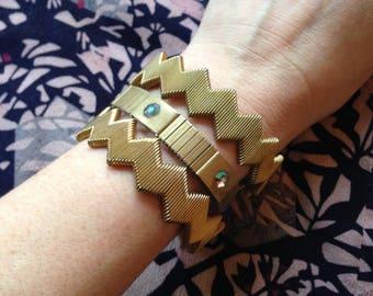 3 Vintage stretch bracelet