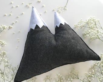 Mountains Pillow Wool Felt,Mountains, Mountains Pillow,Mountains Nursery Decor,Mountains Softies,Mountains pillow,Gift,Handmade Pillow,Felt