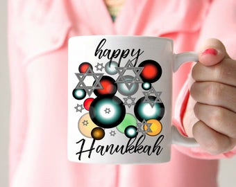 happy Hanukkah Gift for Hanukkah Mug Star of David Gift Star of David Mug Bar Mitzvah Bat Mitzvah