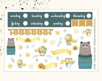 WINTER NIGHTS | Deco & Date Covers | Planner Stickers | Erin Condren Vertical