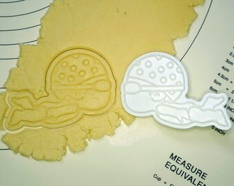 Swimming Girl Cookie Cutter and Stamp