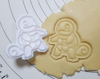 Pokemon Squirtle Cookie Cutter and Stamp