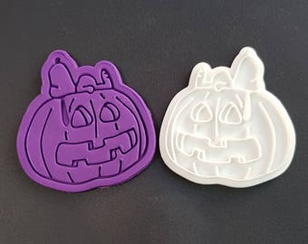 Snoopy on Halloween Pumpkin Cookie Cutter and Stamp