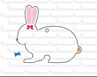 Rabbit, easter bunny, bunny CUT file, easter Sticker, UNLIMITED use, cut file, silhouette cameo file, SVG cutting file