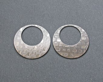 2 hoops of steel stainless 35mm